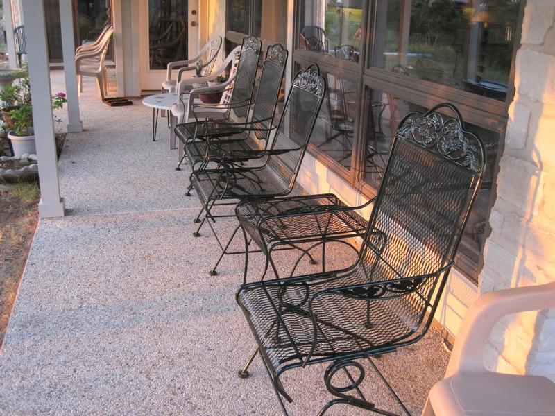 Steel furniture, sand blasted & powder coated