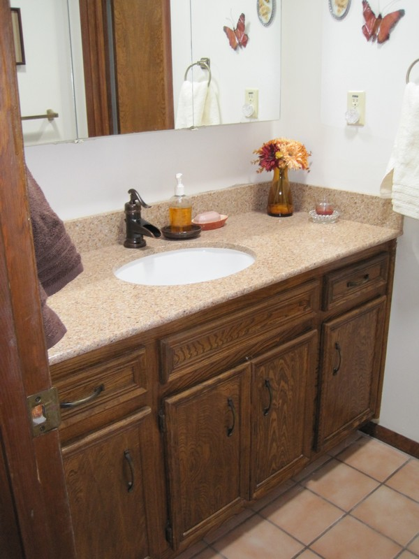 Hall Bath sink & counter top