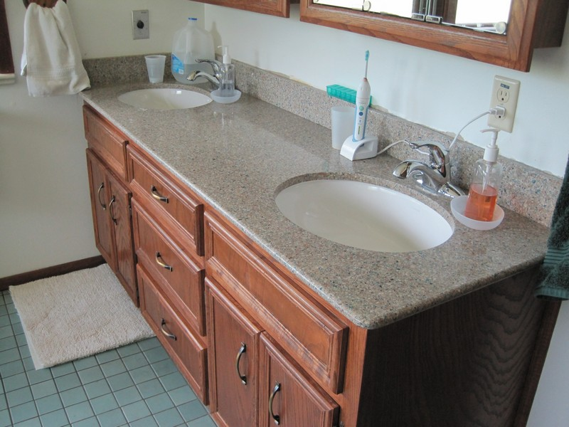 Master bath new sinks & counter top (floor tile will change)
