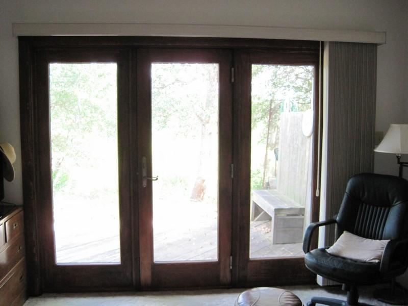 New Master Bedroom Door with Vertical Blinds