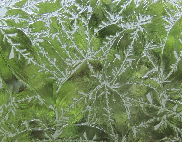 Detail of frosted window