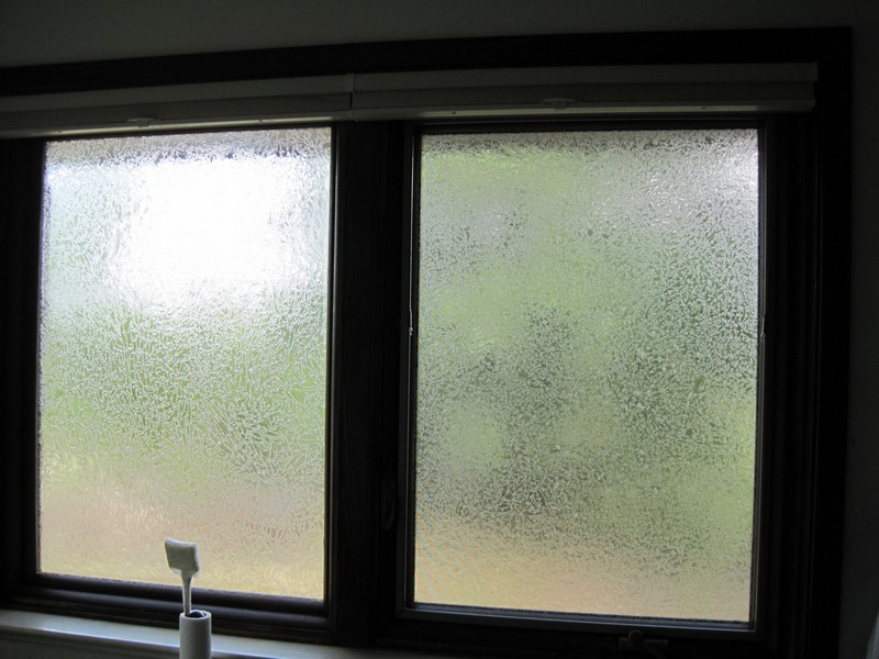 Master Bathroom Anderson Frosted Window