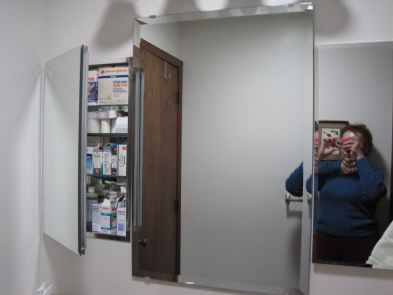 You can now see the two side mirrors are medicine cabinets