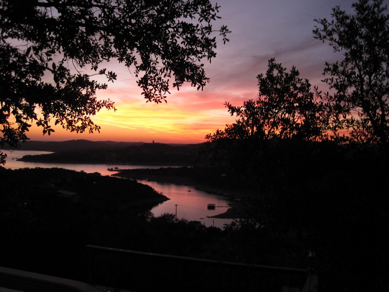 Winter sunset on Lake Travis