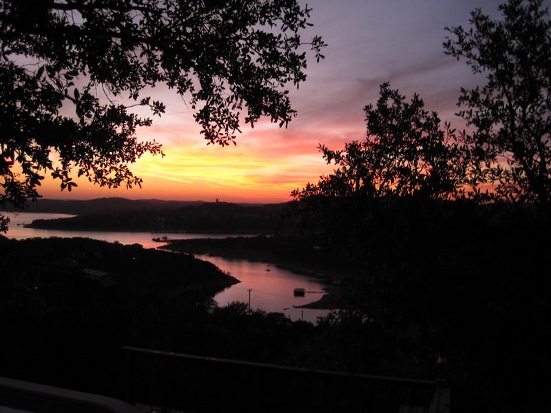 Winter sunset on Lake Travis