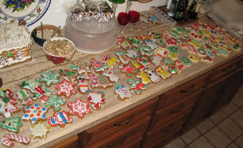 Decorated cookies thanks to great niece & nephews