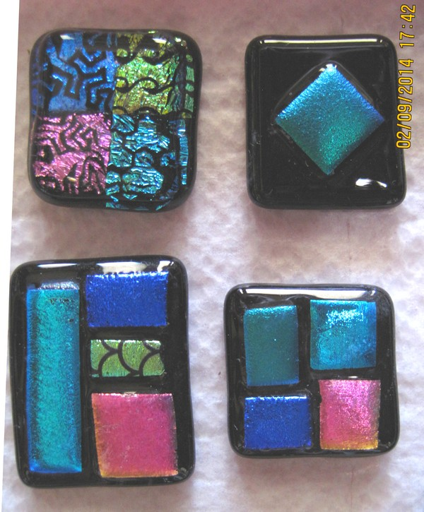 Patchwork Dichroic Glass