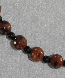 Mahogany Obsidian and Black Glass