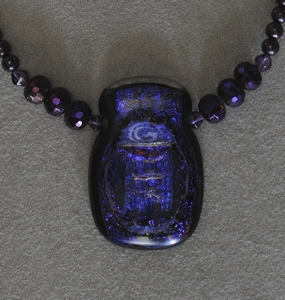 Purple Dichroic Glass Bead with Glass Beads